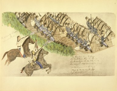 [Sioux Indian painting, Opening of the Battle of the Little Big Horn]