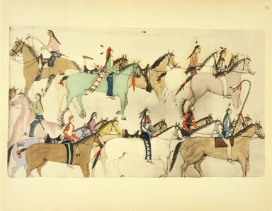 [Sioux Indian painting, The End of the Battle]
