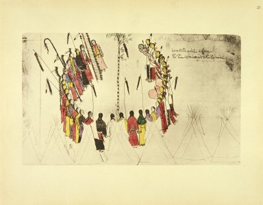 [Sioux Indian painting, Scalp Dance or Victory Dance]