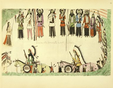 [Sioux Indian painting, Smoothing the Place Dance]