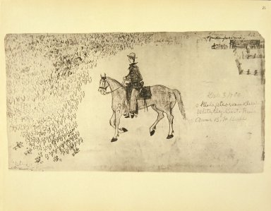 [Sioux Indian painting, Self-Portrait as Cowboy]