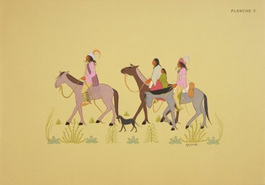 [Les peintres indiens d'Amérique, American Indian painters, Creek Indians Going to Meeting]