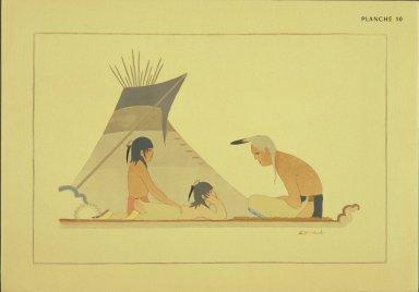 [Les peintres indiens d'Amérique, American Indian painters, The Old Teller of Tales]