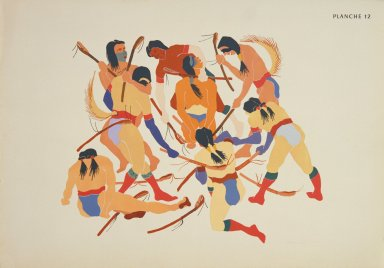[Les peintres indiens d'Amérique, American Indian painters, Choctaw Ball Game]
