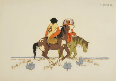 [Les peintres indiens d'Amérique, American Indian painters, Two Horsemen]