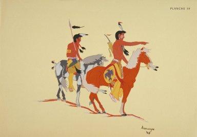 [Les peintres indiens d'Amérique, American Indian painters, Comanche Scouts]