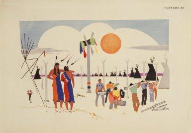 [Les peintres indiens d'Amérique, American Indian painters, The Sun Dance Lodge]