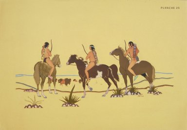 [Les peintres indiens d'Amérique, American Indian painters, Buffalo Hunters]