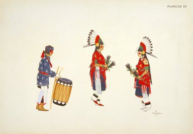 [Les peintres indiens d'Amérique, American Indian painters, San Ildefonso Women Dancers]