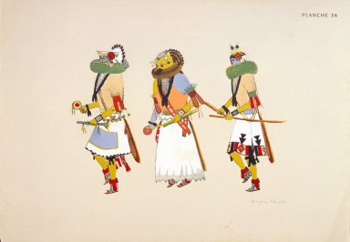 [Les peintres indiens d'Amérique, American Indian painters, Masked Dancers of Zuni]