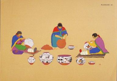 [Les peintres indiens d'Amérique, American Indian painters, Pueblo Pottery Makers]