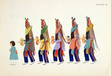 [Les peintres indiens d'Amérique, American Indian painters, A Matachina Dance, Christmas]