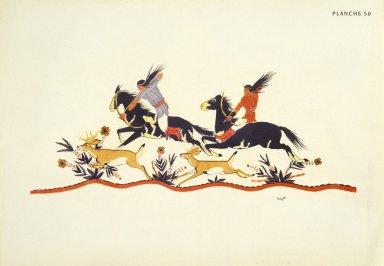 [Les peintres indiens d'Amérique, American Indian painters, Deer Hunters]