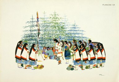 [Les peintres indiens d'Amérique, American Indian painters, Pine Tree Ceremonial Dance]