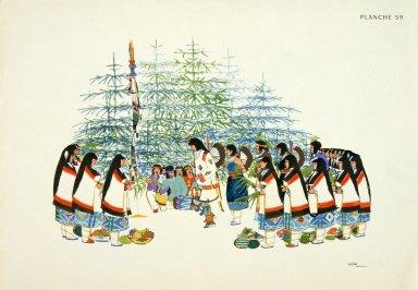 [Les peintres indiens d'Amérique, American Indian painters, Pine Tree Ceremonial Dance]