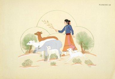 [Les peintres indiens d'Amérique, American Indian painters, Taking Sheep Out]