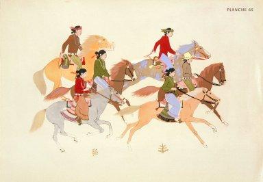 [Les peintres indiens d'Amérique, American Indian painters, Navajos Going to a Dance]