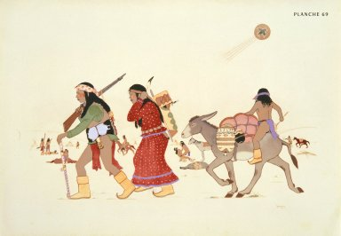 [Les peintres indiens d'Amérique, American Indian painters, Moving Camp]