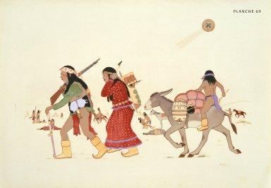 [Les peintres indiens d'Amérique, American Indian painters, Moving Camp]