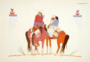 [Les peintres indiens d'Amérique, American Indian painters, Navajo Family]