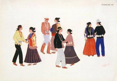 [Les peintres indiens d'Amérique, American Indian painters, Navajo N' da a (Social Dance)]