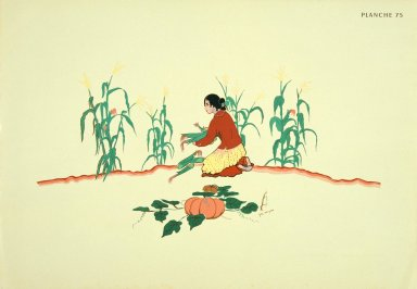 [Les peintres indiens d'Amérique, American Indian painters, Picking Corn Maiden]
