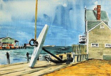 Marina with Large Anchor