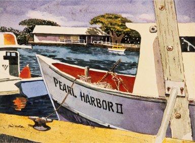 Boat Pearl Harbor II Docked in a Channel