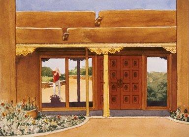 Doorway with Reflection in Window