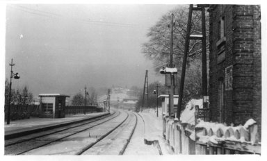 Morlanwelz, Train Rails in the Snow