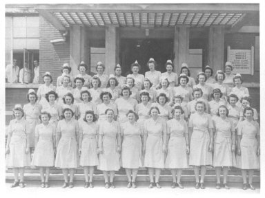 Tongres, Belgium. Nurses, Group Photo
