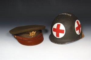 Service Cap and Medic Helmet