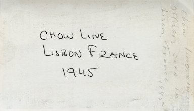 Chow Line (back of photograph)