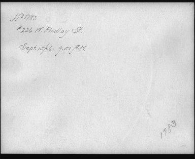 Rapid Transit Photographs -- Box 12, Folder 07 (September 15, 1926) -- print, 1926-09-15, 9:50 A.M. (back of photograph)