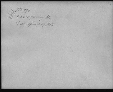 Rapid Transit Photographs -- Box 12, Folder 07 (September 15, 1926) -- print, 1926-09-15, 10:37 A.M. (back of photograph)