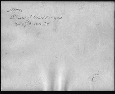 Rapid Transit Photographs -- Box 12, Folder 07 (September 15, 1926) -- print, 1926-09-15, 10:15 A.M. (back of photograph)