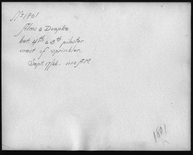 Rapid Transit Photographs -- Box 12, Folder 09 (September 17, 1926) -- print, 1926-09-17, 11:10 A.M. (back of photograph)