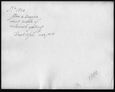 Rapid Transit Photographs -- Box 12, Folder 09 (September 17, 1926) -- print, 1926-09-17, 11:22 A.M. (back of photograph)