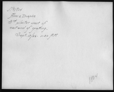 Rapid Transit Photographs -- Box 12, Folder 09 (September 17, 1926) -- print, 1926-09-17, 11:30 A.M. (back of photograph)