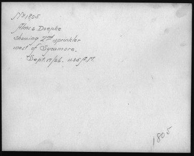 Rapid Transit Photographs -- Box 12, Folder 09 (September 17, 1926) -- print, 1926-09-17, 11:35 A.M. (back of photograph)