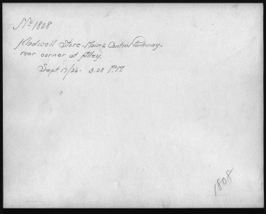 Rapid Transit Photographs -- Box 12, Folder 10 (September 17, 1926) -- print, 1926-09-17, 3:08 P.M. (back of photograph)