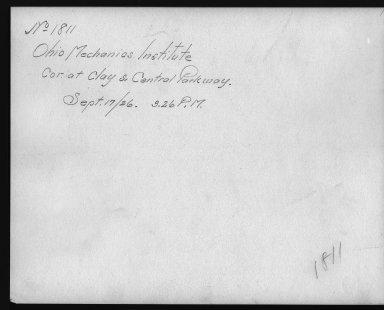 Rapid Transit Photographs -- Box 12, Folder 10 (September 17, 1926) -- print, 1926-09-17, 3:26 P.M. (back of photograph)