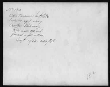 Rapid Transit Photographs -- Box 12, Folder 12 (September 17, 1926 - September 18, 1926) -- print, 1926-09-17, 3:36 A.M. (back of photograph)