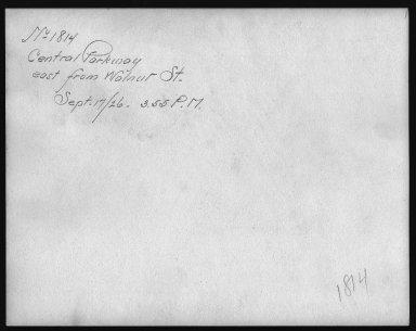 Rapid Transit Photographs -- Box 12, Folder 12 (September 17, 1926 - September 18, 1926) -- print, 1926-09-17, 3:55 P.M. (back of photograph)