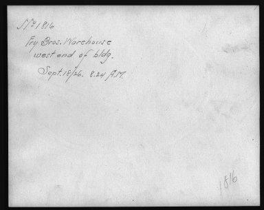 Rapid Transit Photographs -- Box 12, Folder 12 (September 17, 1926 - September 18, 1926) -- print, 1926-09-18, 8:24 A.M. (back of photograph)