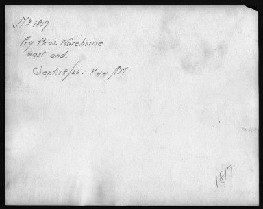 Rapid Transit Photographs -- Box 12, Folder 13 (September 18, 1926 - September 20, 1926) -- print, 1926-09-18, 8:44 A.M. (back of photograph)