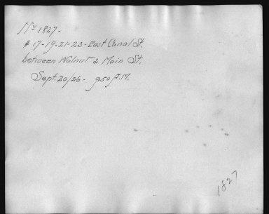 Rapid Transit Photographs -- Box 12, Folder 14 (September 20, 1926) -- print, 1926-09-20, 9:50 A.M. (back of photograph)