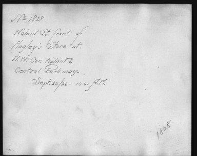 Rapid Transit Photographs -- Box 12, Folder 14 (September 20, 1926) -- print, 1926-09-20, 10:01 A.M. (back of photograph)