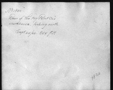 Rapid Transit Photographs -- Box 12, Folder 15 (September 24, 1926) -- print, 1926-09-24, 8:54 A.M. (back of photograph)