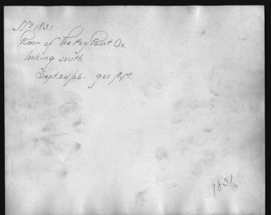 Rapid Transit Photographs -- Box 12, Folder 15 (September 24, 1926) -- print, 1926-09-24, 9:01 A.M. (back of photograph)